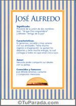 Nombre José Alfredo