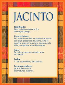 Nombre Jacinto