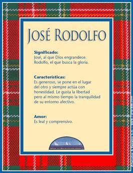 Nombre José Rodolfo