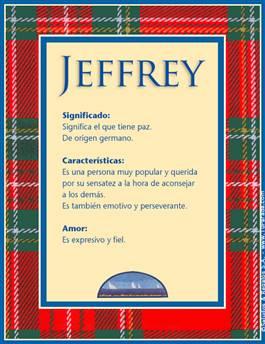 Nombre Jeffrey