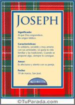 Nombre Joseph