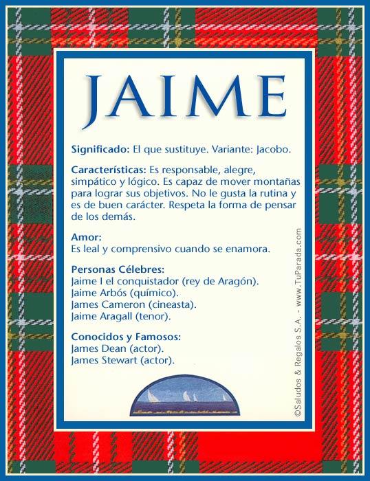 Jaime Nombre
