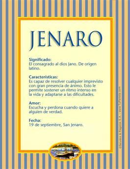 Nombre Jenaro