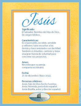 Nombre Jesús