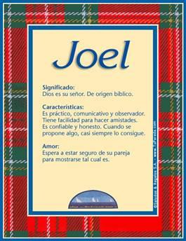 Nombre Joel