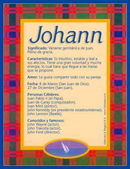 Nombre Johann