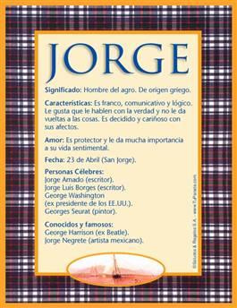 Nombre Jorge
