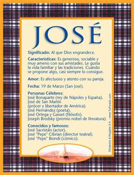 Nombre José