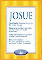 Nombre Josue