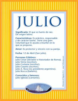 Nombre Julio