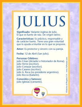 Nombre Julius