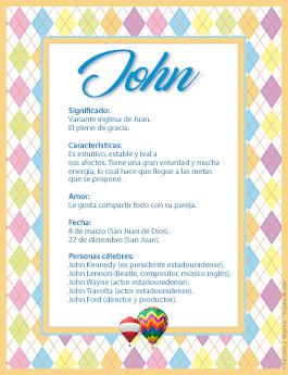 Nombre John