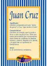 Nombre Juan Cruz