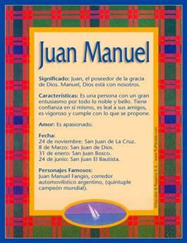 Nombre Juan Manuel