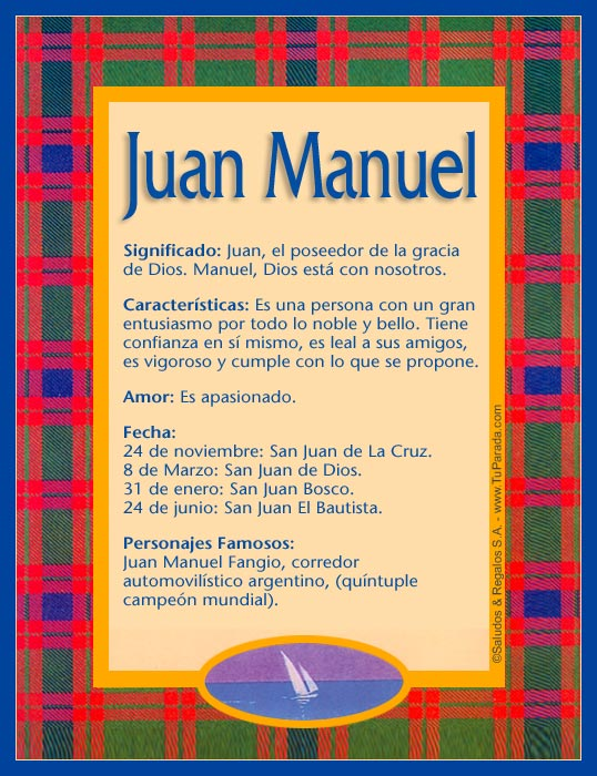 Enviar Tarjeta Postal Juan Manuel