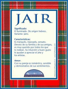 Nombre Jair