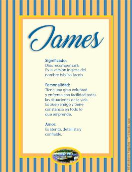 Nombre James