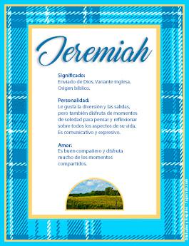 Nombre Jeremiah