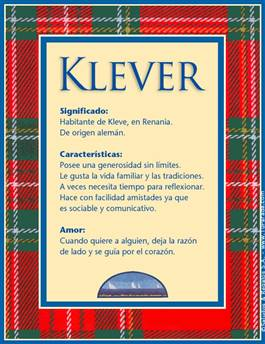 Nombre Klever