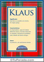 Nombre Klaus