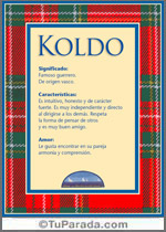 Nombre Koldo