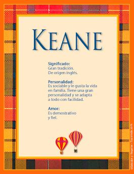 Nombre Keane