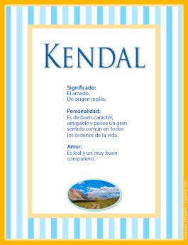 Nombre Kendal