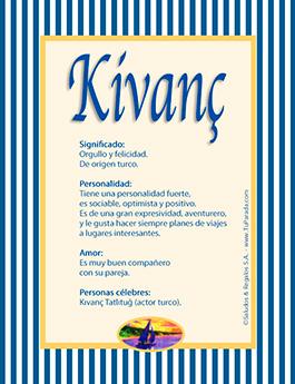 Nombre Kivanç