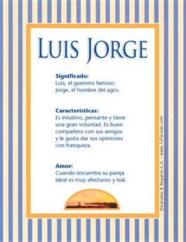 Nombre Luis Jorge