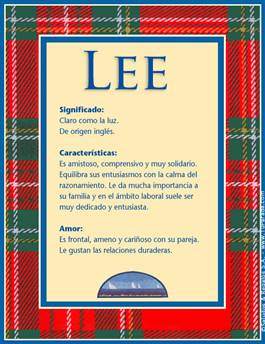 Nombre Lee