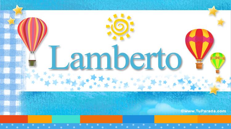 Lamberto, imagen de Lamberto