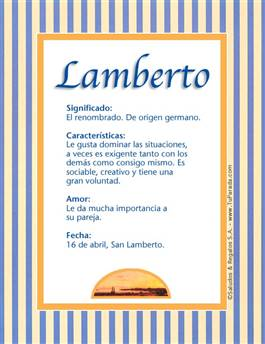 Nombre Lamberto