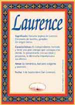 Nombre Laurence