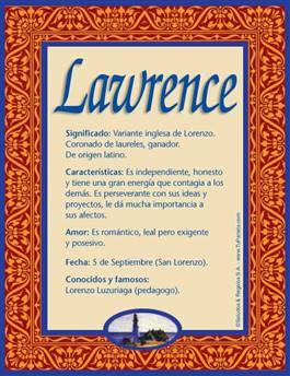 Nombre Lawrence