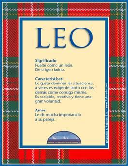 Nombre Leo