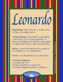 Nombre Leonardo