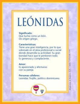 Nombre Leónidas