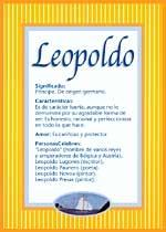 Nombre Leopoldo