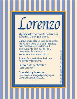 Nombre Lorenzo