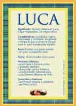 Nombre Luca