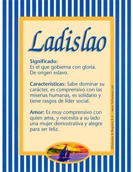 Nombre Ladislao