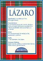 Nombre Lázaro