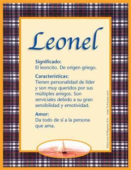 Nombre Leonel