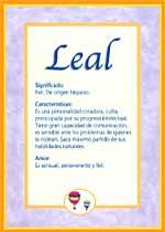 Nombre Leal