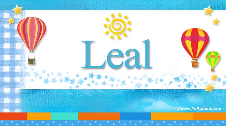 Leal, imagen de Leal