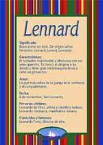 Nombre Lennard