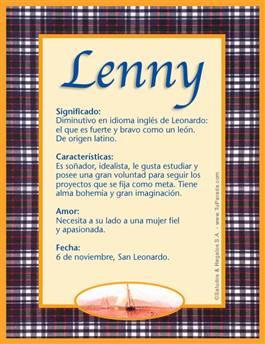 Nombre Lenny
