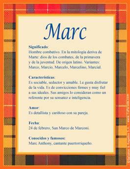 Nombre Marc