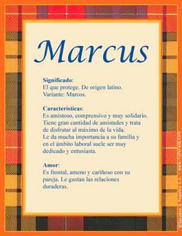 Nombre Marcus