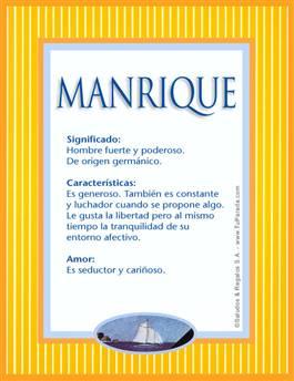 Nombre Manrique